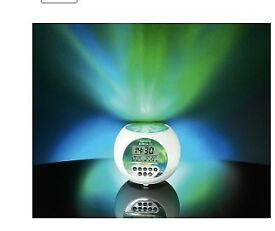 Northern Lights Projector Alarm Clock - Original Box, instructions and batteries included