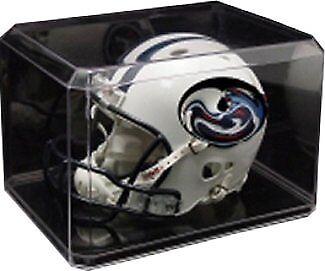 Football Mini Helmet Clear ACRYLIC Display Case Holder - USA MADE