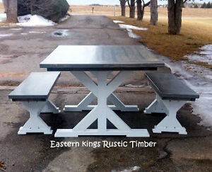 Modern Rustic X Base Table
