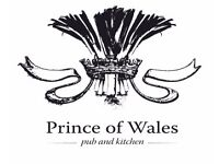 Waiter/Waitress/Bar staff required for Prince of Wales East Putney - Service charge paid weekly