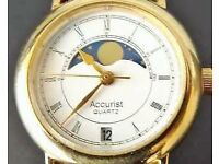 BEAUTIFUL ACCURIST MOON PHASE LADIES WATCH