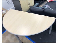 Quality Strong Sturdy Curved Office Tables/ Desks Good Condition Can Deliver for £5