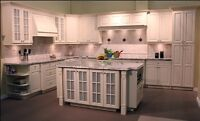 renovation sale! Solid wood kitchen cabinets at wholesale prices