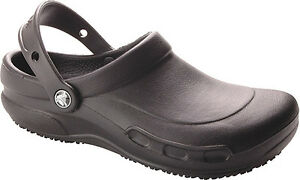 NEW! CROCS Bistro - BLACK - Comfortable Work Shoes - ALL SIZES!