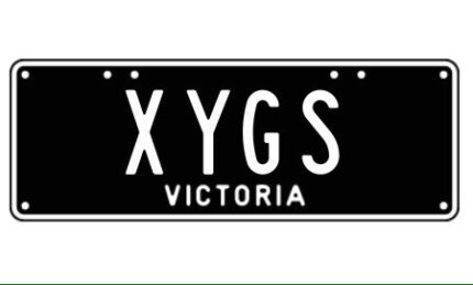 XYGS Victorian custom number plates