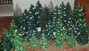 Christmas trees for village ~ arbres de noel