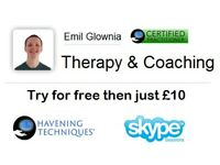 Psychosensory Therapy & coaching. Try for free then just £10