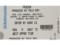 Frozen tickets belfast