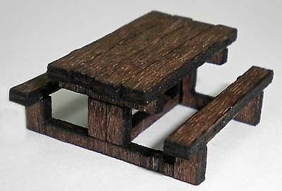 Ancorton Models OO Gauge Picnic Tables (makes 6) - Wooden Kit #...