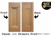 Brand new boxed Drawers fronts in classic oak For ebay business