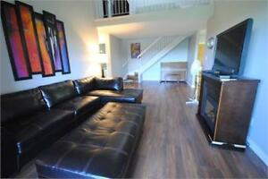 Fully Furnished 2 bedroom loft style condo!