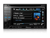 Pioneer AVH 3300BT Double Din DVD Player, Mp3, Ipod, Iphone, Bluetooth, USB, Phone, Handsfree