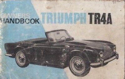 TRIUMPH TR4A IRS ORIGINAL 1966 OWNERS INSTRUCTION HANDBOOK