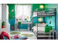 Bunk bed frame + underbed IKEA SVÄRTA + 3 mattreses 190x90 cm