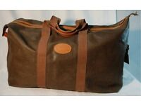 Mulberry Extra Large Clipper Mole Scotchgrain Travel Bag Holdall Leather Luggage