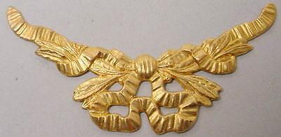 Raw Brass Ornate Laural Vector 1 dozen - Vector Costume