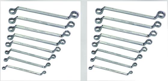 8 Piece SAE Offset Box Wrench Set Chrome vanadium steel cons