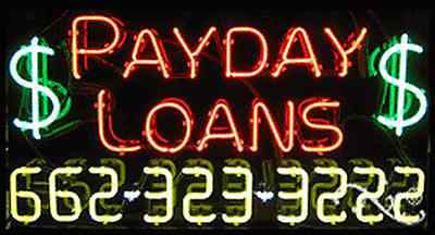 New  Payday Loans  W Your Phone Number 37X20 Neon Sign W Custom Options 15093