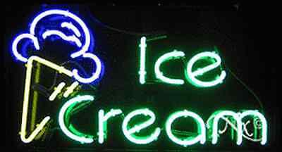 Brand New Ice Cream 37x20x3 Wlogo Real Neon Sign Wcustom Options 10410