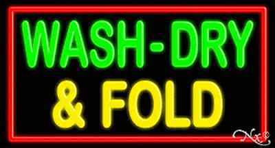 Brand New Wash-dry Fold 37x20 Wborder Real Neon Sign Wcustom Options 10706
