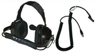 Titan Dual Muff High Noise Racing Headset Motorola Radio Xpr6350 Xpr6550 Xpr6300