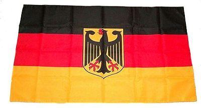 Fahne Stockflagge Deutschland mit Adler NEU 30 x 45 cm