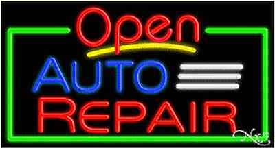 New Open Auto Repair 37x20x3 Border Real Neon Sign Wcustom Options 15454