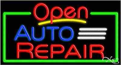New Open Auto Repair 37x20x3 Border Real Neon Sign Wcustom Options 15454