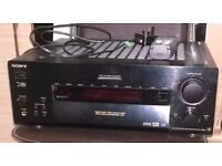 sony high end home cinema ampifer in black 5.1 100 watts x 5 with remote very heavy