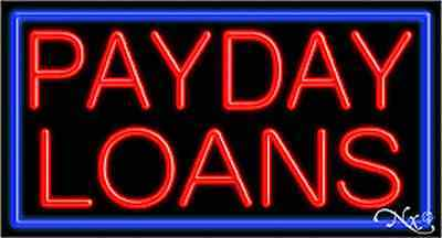 Brand New  Payday Loans  37X20x3 W Border Real Neon Sign W Custom Options 11107