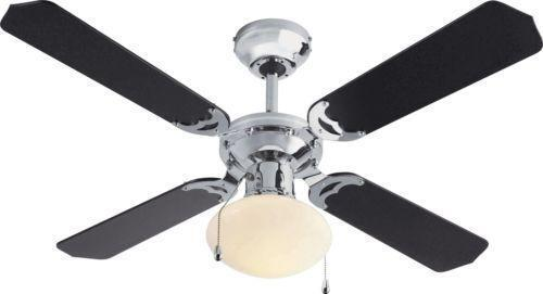 Chrome ceiling fan ebay mozeypictures Gallery