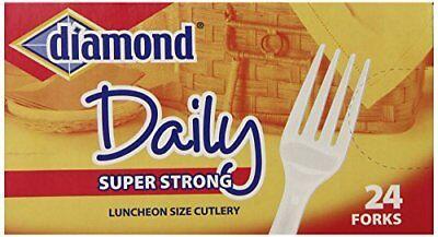 Diamond Heavy Duty Plastic Forks 24 Count
