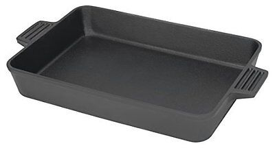 Iron Baking Pan Cast Black Heavy Duty Chef Cookware Bakeware Bayou Classic Style