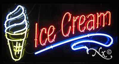 Brand New Ice Cream 37x20x3 Wlogo Real Neon Sign Wcustom Options 10399