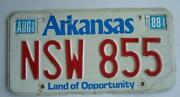 Vintage Arkansas License Plate