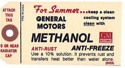 1949-1960 Methanol Antifreeze Tag