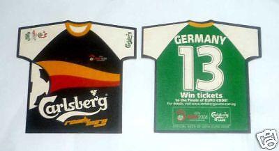 SINGAPORE Mat Coaster CARLSBERG BEER Euro 2008 GERMANY Shirt RARE Football image