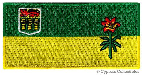 SASKATCHEWAN FLAG embroidered iron-on PATCH CANADA EMBLEM Canadian Province NEW