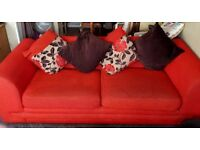 2 Red DFS sofa's