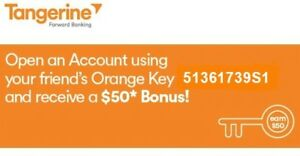 FREE $50 Bonus on Opening a Tangerine No-Fee Account