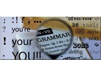 Copy editing & proofreading service... English language