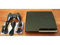 Slim PS3 with games