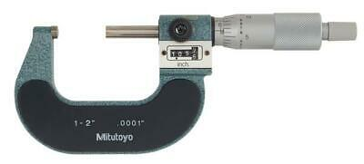 Mitutoyo 193-212 Rolling Digital Outside Micrometer 1-2 Range .0001