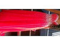 Cherry red diamanté prom dress