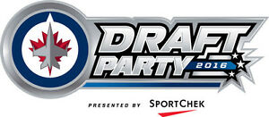 Winnipeg Jets Draft Party 2 or 4 tickets June 24 at the Met