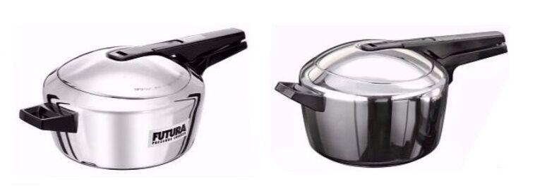 Pressure Cookers : Hawkins : Indian Cooker : Futura Stainless Steel : 2 Variants