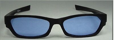 Happyeye Tinted glasses visual stress dyslexia overlays blue adult coloured