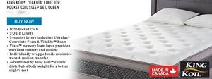 King Koil Dakota Eurotop Queen Mattress only - BRAND NEW