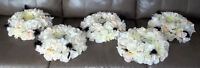 5 Rose Decorated Table Wreaths