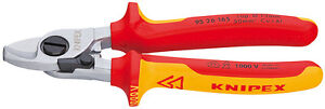 Knipex-95-26-165-VDE-Insulated-Cable-Cutters-Shears-with-Opening-Spring-NH
